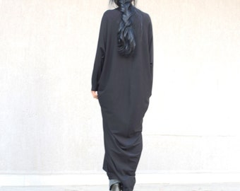 Abaya maxi dress, caftan maternity dress, everyday dresses for plus size women, casual clothing, long black dress, long sleeve black dress