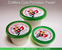 Cold Porcelain Professional Quality clay, Air dry clay, Non toxic clay, Porcelain crafting paste, no kiln clay, Gina Carrasco Handmade