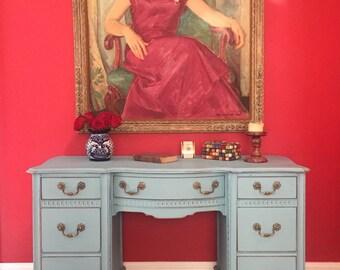 SAMPLE PIECE -  Vintage Solid Wood Mid Century Desk