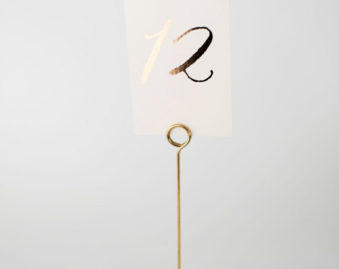 gold foil table numbers (single-sided)  //  lola louie paperie