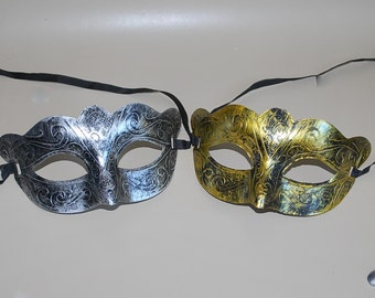halloween mask - men's mask - knight mask - Masquerade masks - dancing ball party - wedding prom mask - gold silver