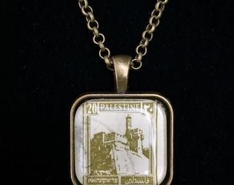 Palestine Postage Stamp Necklace