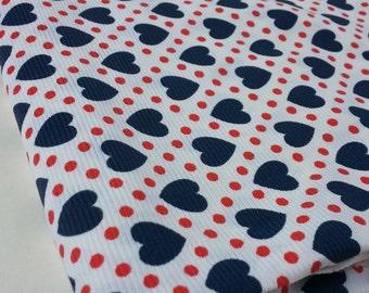 Heart Pattern Polyester Fabric