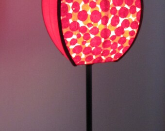 Handcrafted lamp made of Japanese paper and cotton sateen