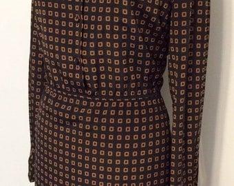 Lanvin vintage silk dress late 60's early 70's size M/L