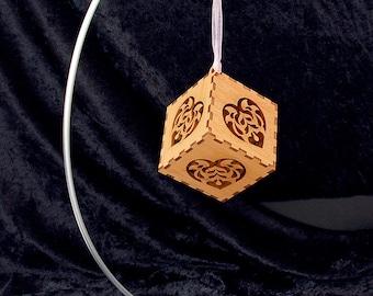 Laser Cut Folk Heart Hanging Ornament - Ready to Ship!