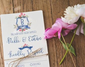 FLORAL|Wedding Invitation Set #70