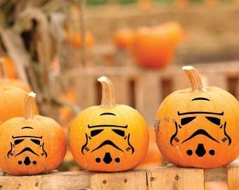 Clone Trooper - Vinyl Decal, Star Wars Stickers, Pumpkin Decoration, Jack O Lantern Art, Halloween Decor, Star Wars Gift