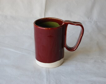 Firebrick Red and Olive Speckle Beer Stein