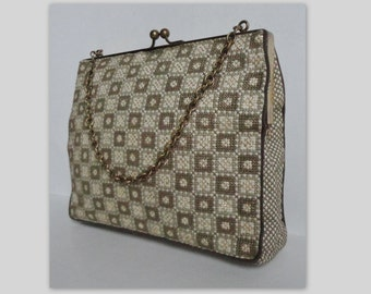 50s Embroidered Vintage Evening Bag