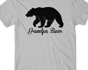 Grandpa bear etsy grandpa bear shirt fathers day gift idea for grandfather t shirt t tee mens present publicscrutiny Image collections