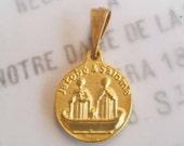 Medal - Saintes-Maries & Sainte Sara - 18K Gold Vermeil - 17mm