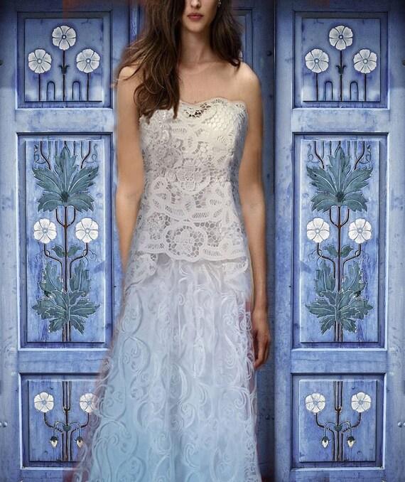 Lace wedding dress/Sale off/OOAK/ alternative wedding dress/ upcycled wedding dress / doily bridal