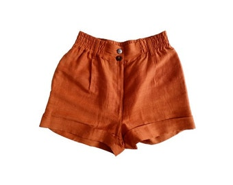 1990s GAULTIER  JUNIOR  high waist  shorts  // Paris // size eu 36- uk 8- us 4