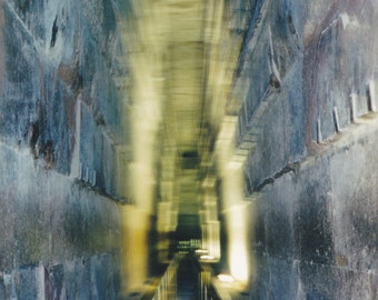 Inside the Great Pyramid of Gizeh - Egypt - Old Style Photography-