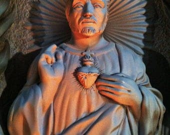 Vintage Sacred Heart Of Jesus Wall Plaque
