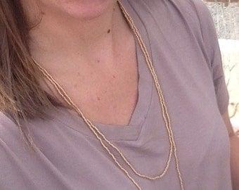 Beaded Wrap Necklace, Double Wrap Necklaces, Long Beaded Necklaces, Seed Bead Necklaces, Beaded Necklaces, Layering Necklaces, Gold Necklace