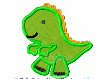 Dinosaur Applique Design - Dinosaur Embroidery Design - T-Rex Applique Design - T-Rex Embroidery Design - Dino Applique Design