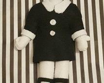 Wednesday Addams, Headless Doll - Felt Plush - Adams Family - Cute and Creepy - Alternative Present - Goth Gift -  Halloween Costume/Cosplay