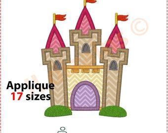 Castle Applique Design. Castle embroidery design. Embroidery applique castle. Applique castle. Embroidery castle. Machine embroidery design.