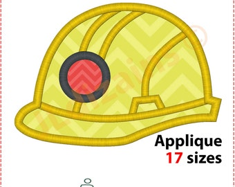 Construction Helmet Applique Design. Hard hat embroidery design. Construction helmet embroidery design. Hard hat. Machine embroidery design