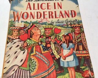 Alice in Wonderland by Lewis Carroll 1945 Whitman Publishing Charming Childrens Book  this is perfect for a nursery or gift for the new Mom