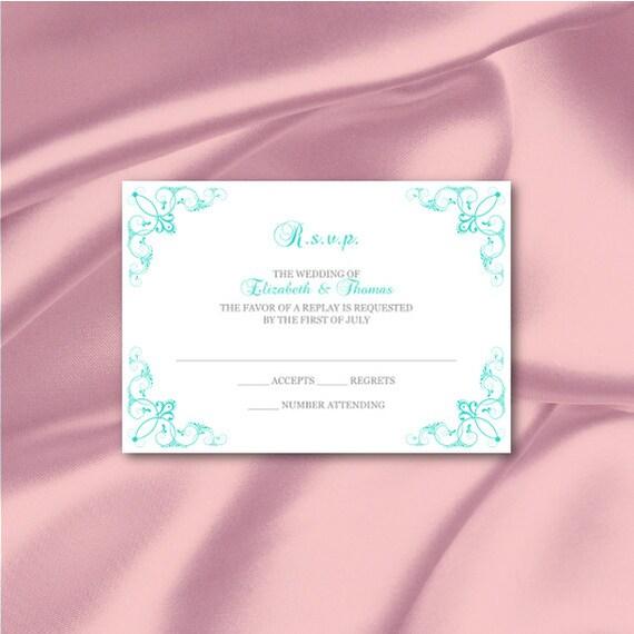 Wedding Enclosure Cards Template Diy By WeddingPrintablesDiy