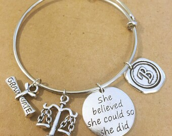 Gift for Lawyer Charm Bracelet