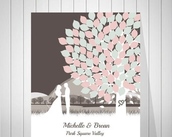 Modern Wedding Tree Guest Book Alternative Guest Book Wedding Signature Tree Keepsake Gift for Wedding Bridal Shower Guest Book - 39277
