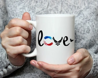 Love My Airman Mug - 11oz - 17oz - Gifts for Spouse - Military Wife Gift - Gifts for Women - Patriotic - Military - Air Force