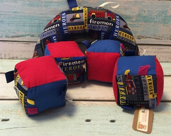 Fire Hero Plush Block and Tummy Time Pillow
