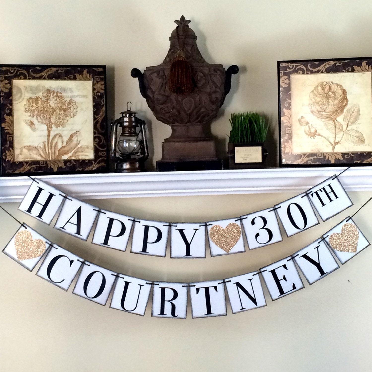 Happy 30th Birthday Banner Personalized Birthday By