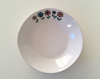 White plate, hand painted