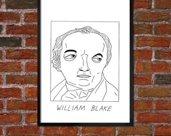 Badly Drawn William Blake - Literary Poster - *** BUY 4, GET A 5th FREE***