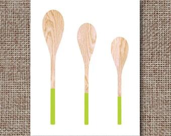 kitchen printables kitchen poster kitchen utensils download wooden spoon poster instant download printable kitchen digital minimalist