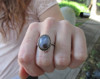 Vintage Silver Moonstone Ring size 8