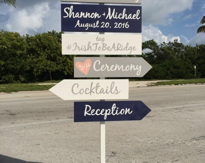 Nautical Welcome Wedding Sign, Shoes Optional Directional Beach Wedding Decor, Cocktails, Reception, Ceremony Signage