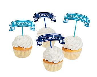 12/ Oktoberfest Picks / Food picks / cupcake picks