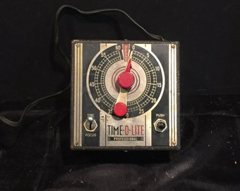 Vintage Time-O-Lite Professional Darkroom Photography Developing Timer