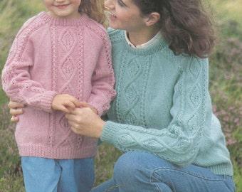 Instant Download - PDF-  Vintage  Cable Jumper Knitting Pattern (C40)