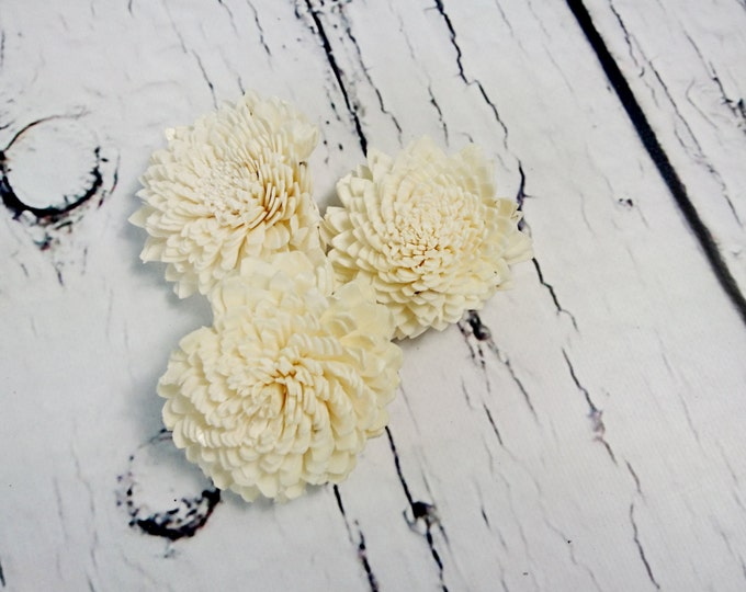 "Sola Flowers Wedding decor diy bouquet floral supply natural rustic zinnia 25 pcs 6cm 2 23⁄64"""
