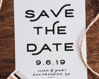 Save The Date Stamp (W002)