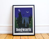 Hogwarts - Harry Potter - Travel Poster Style Art Print - (Available In Many Sizes)