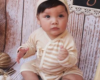 Organic Baby Bodysuit, Kimono Bodysuit, 0-3Months Bodysuit, Playsuit, Organic Baby Kimono Bodysuit, Organic Cotton Romper, Newborn Bodysuit