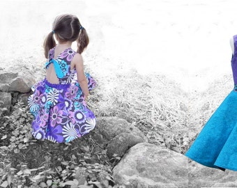 Cecily Rose Dress Pattern - Circle Skirt - Reversible - 1-10Y PDF