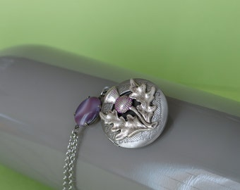 Scottish Thistle Locket Thistle Gifts Thistle Necklace Secret Locket Thistle Jewelry Thistle Locket Free Gift Wrapping Gifts for Her