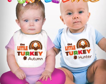 The Little Turkey - Thanksgiving - Personalized with Name - Boys / Girls