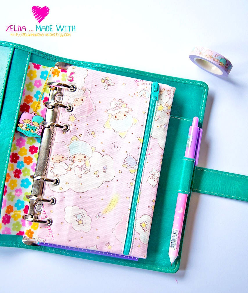A5 Personal Pocket Zippered Pencil Pouch Ring Planner