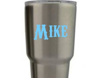 Decals for men | Decals for Yeti cups |  Decals for Yeti | Yeti decals | name decals | decals for cups | Personalized decals | Mac decal