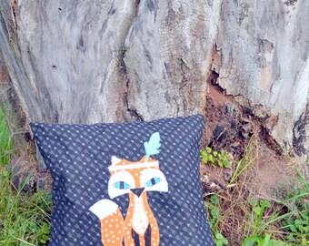 Bohemian Fox Cushion cover 14-inch